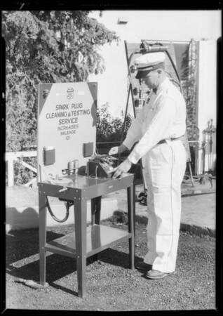 Spark plug service, Southern California, 1932