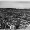 Aerial view of Los Angeles Country Club, facing north into the Hills and Bel Air