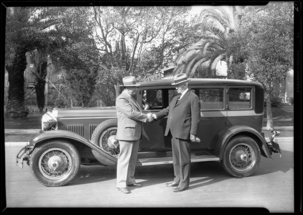 New Kissel car, Southern California, 1928