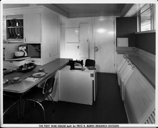 The Post War House built by Fritz B. Burns Research Division, sewing area of 1948, home