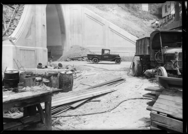 Figueroa Street tunnel entrance, Southern California, 1931