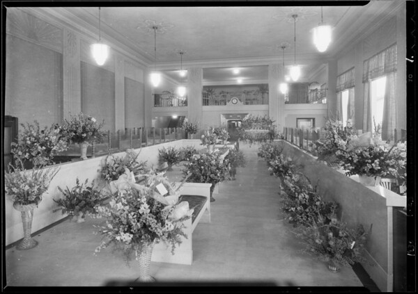Opening of Seaboard National Bank branch, Hauser Boulevard and Wilshire Boulevard, Los Angeles, CA, 1930