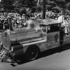 American Legion parade, Long Beach, steam engine float from an Arizona delgation