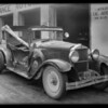 Burned Hupmobile sedan, 105 East 17th Street, Los Angeles, CA, 1931