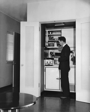 Man looking at his radio