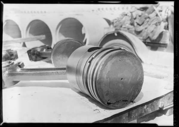 Pistons at Bent Concrete Pipe Co., Pan American Petroleum Co, Southern California, 1927