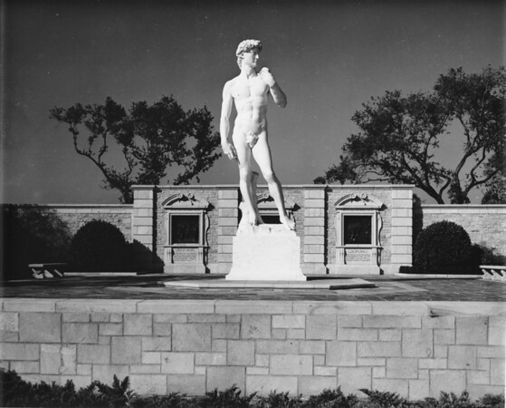 A sculpture of David at the Forest Lawn Memorial Park