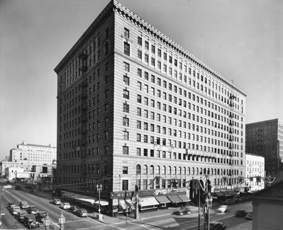 The Roosevelt Building at West Seventh Street and Lebanon Street in Downtown Los Angeles