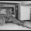 Velie car & ox cart, with shock absorber, Southern California, 1926