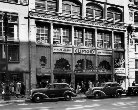 A view of Clifton's Cafeteria in Downtown Los Angeles