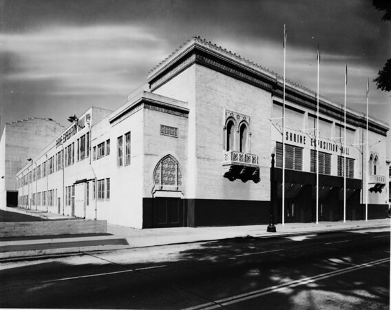 The Shrine Auditorium shot from Figueroa Street