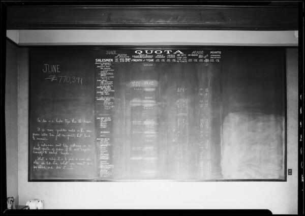 June blackboard, W. Ross Campbell, Southern California, 1926