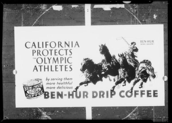 Ben-Hur Coffee, Southern California, 1932