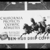 Ben-Hur Coffee, Southern California, 1932