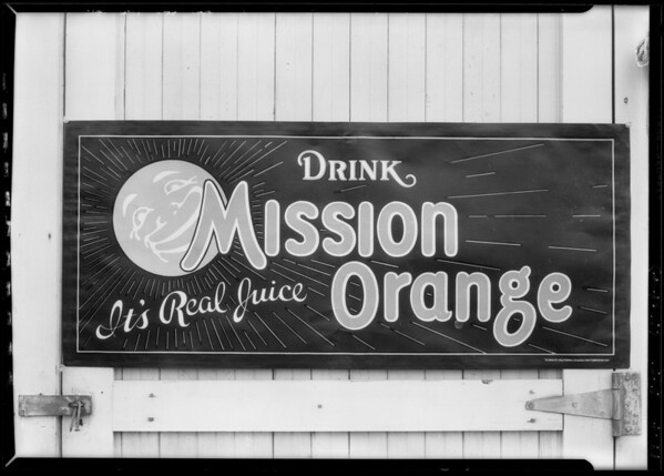 Advertising matter, California Crushed Fruit Corporation, Southern California, 1927
