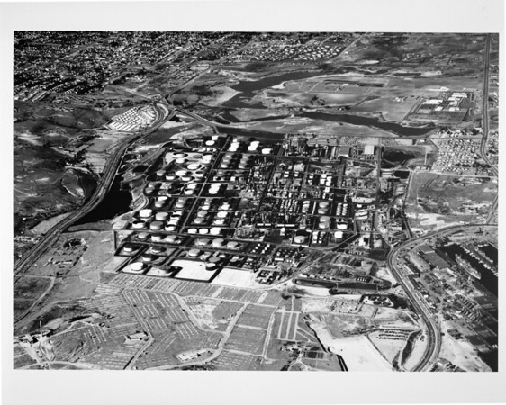 Aerial view of the Unocal Oil Refinery