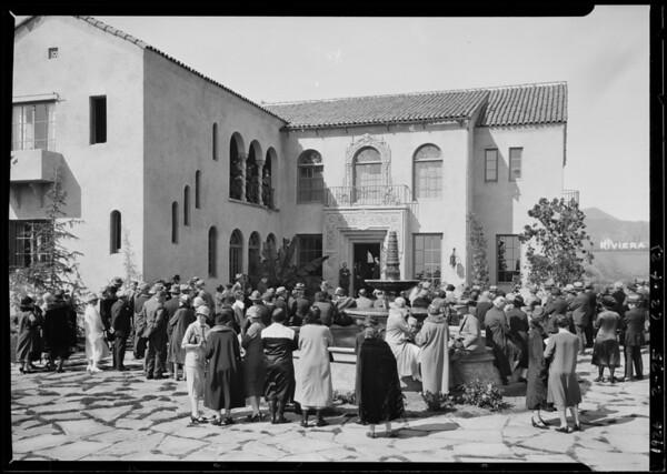 Crowd at 2327 La Mesa Drive, Santa Monica, CA, 1926