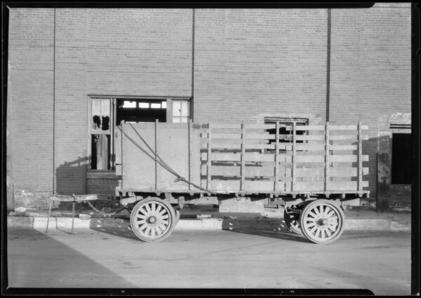 City transfer truck, Union Auto Insurance Co., Southern California, 1925