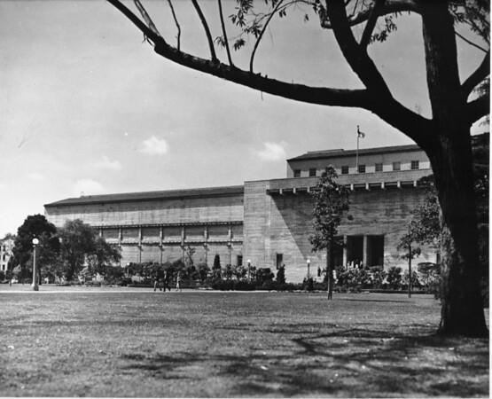 Long shot of a school building