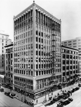 The Sun Building is located on the corner of Seventh Street and Hill Street, and is home to The Frank Meline Company