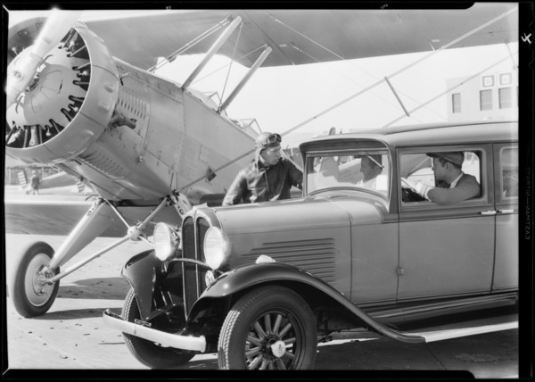 Willys Six at Douglas Airport, Southern California, 1931