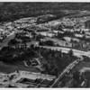 Aerial view facing north over the Veteran's Administration in West Los Angeles at Wilshire Boulevard and Bonsall next to the Wadsworth Hospital