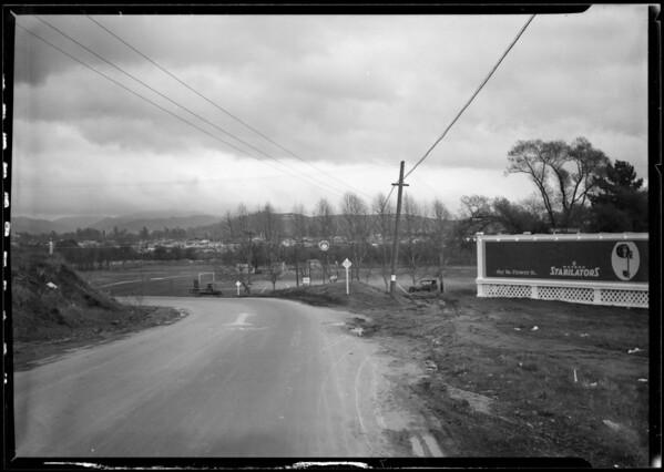 Intersection of Riverside Drive & Los Feliz Boulevard, Los Angeles, CA, 1926