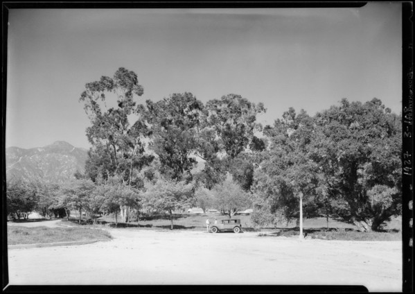 His lot at San Marino, CA, 1927