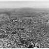 Aerial view of Los Angeles looking east from Wilshire Boulevard Business district