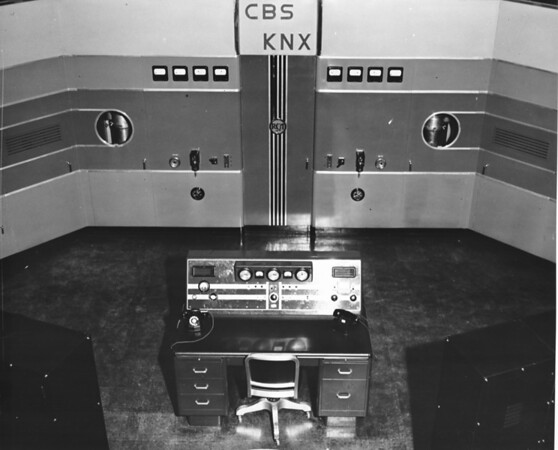 Photo of inside of the radio station CBS-KNX