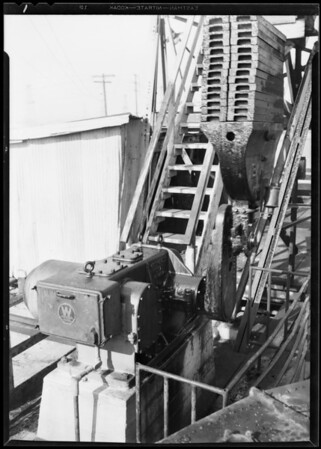 Westinghouse installation, Union Oil Rig, Dominguez Field, Southern California, 1930