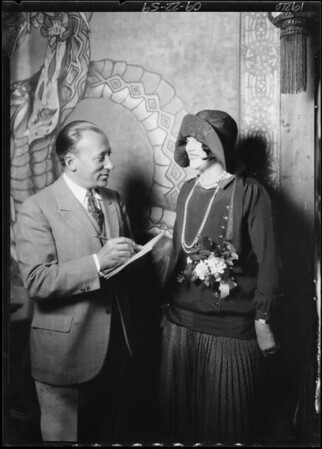 Mrs. Brown & Mr. Brandstatter & red head cigarette girl Ruby McCoy, Southern California, 1926