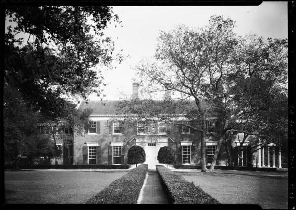 Shots for W. T. Miller at San Marino Avenue & Oak Knoll Avenue, Pasadena, CA, 1926