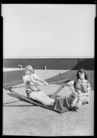 Martin Shocks with Majestic Theater girls, Southern California, 1926