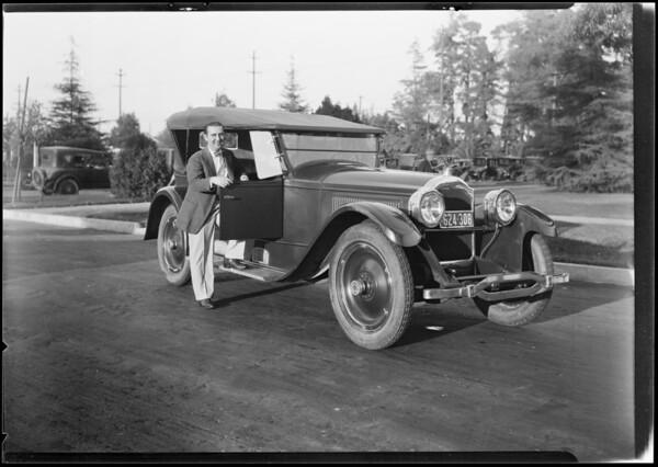 Packard, Mr. Kelley, Southern California, 1924
