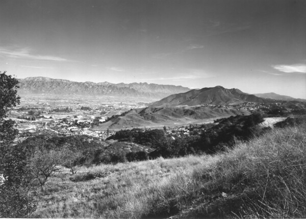 Looking east over Cahuenga Pass and the San Fernando Valley from the Santa Monica Mountains