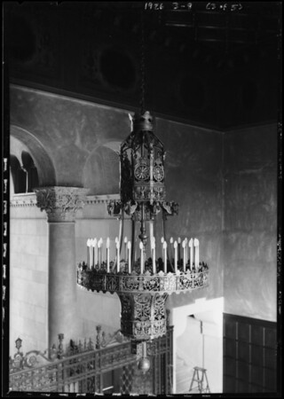 Forve Pettibone light fixtures in Elks Club, Southern California, 1926