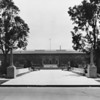 Photo taken of large building in Exposition Park in Los Angeles