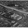 Theme Hosiery building, dairy distribution center, railroad tracks, freeway, Lounsberry & Harris Company