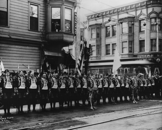 Shriner's parade at Fifth Street and Hill Street