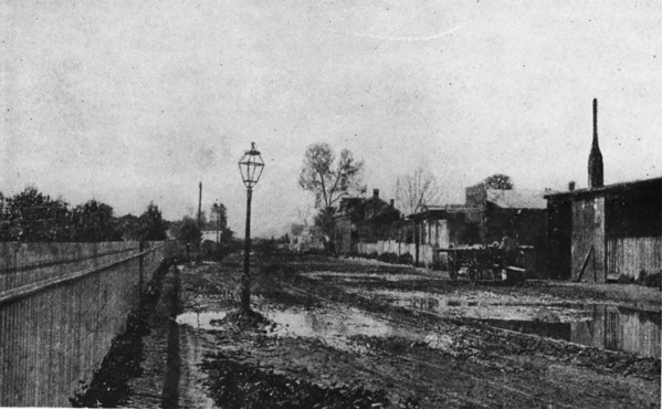 Early photo of San Pedro Street near Second Street in Downtown Los Angeles