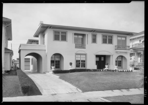 345 South Oxford Avenue, Los Angeles, CA, 1926