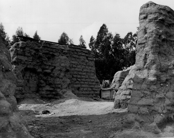 The ruins of one of the San Fernando Mission buildings