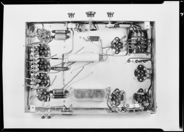 Chassis and midget model radio, Southern California, 1931