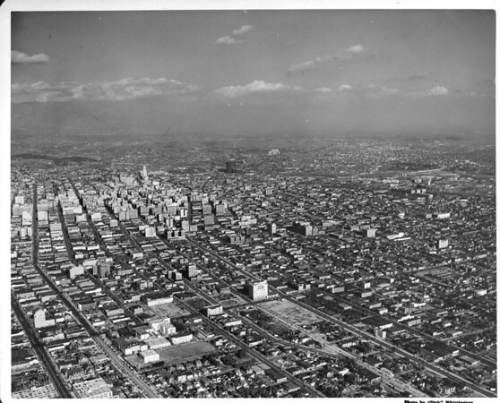 Aerial view of the Los Angeles Business District