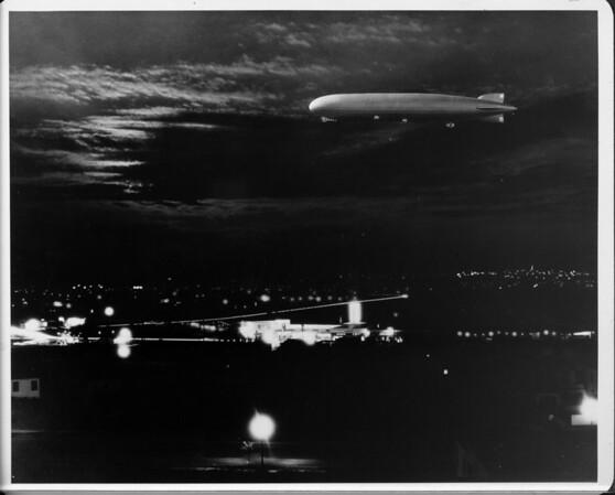 Airship Zeppelin over Leimert Park