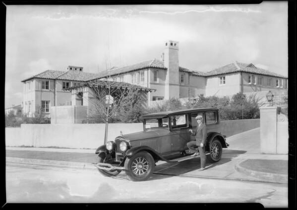 Limo in Hancock Park, Tanner Motor, Los Angeles, CA, 1927