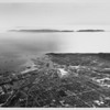 Aerial view facing south of the Los Angeles Harbor