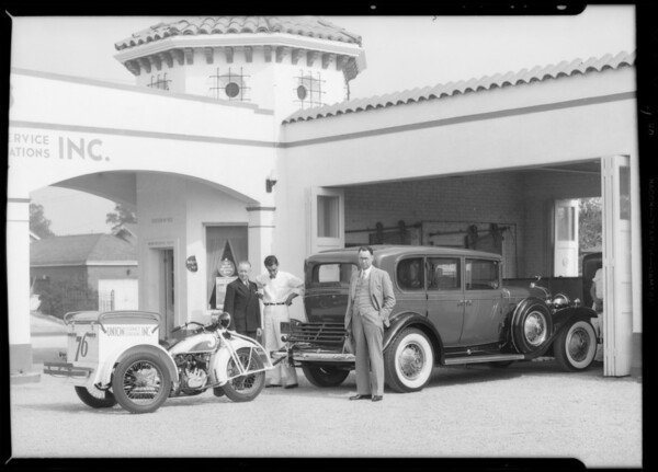 Cycletow service, Southern California, 1932