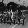 The American Legion Color Guard in the American Legion parade on Figueroa Street